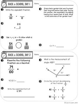 Daily Math Fifth Grade Bundle Pack