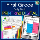 Daily Math First Grade Year Long Bundle Print and DIGITAL