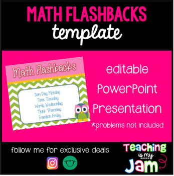 Daily math flashback powerpoint template by teaching is my jam tpt daily math flashback powerpoint template toneelgroepblik Images