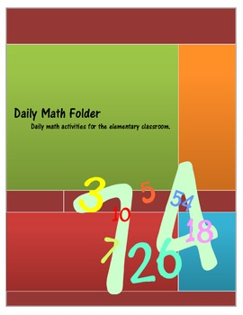 Daily Math Folder Activities Elementary Middle Special Ed