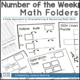 Daily Math Folders- An Interactive Way to Use Number of the Week