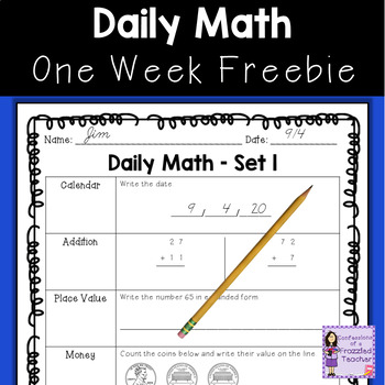 Daily Math Freebie
