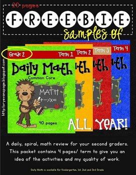 Daily Math - Grade 2 - FREEBIE