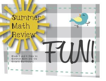 Grade 5/6  Quick Math Review: Common Core