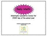 Daily Math Graphic Organizer
