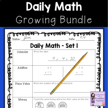 Daily Math...A Growing Bundle