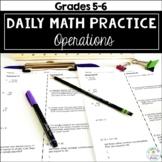 Daily Math Homework: Operations