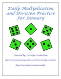 Daily Multiplication and Division Practice for January
