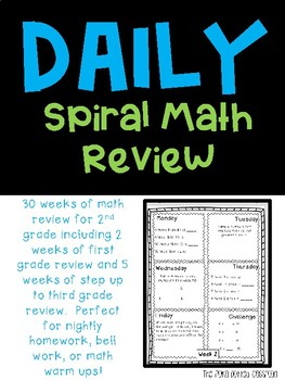 Daily Math Homework for 2nd Grade {{20 Weeks}}