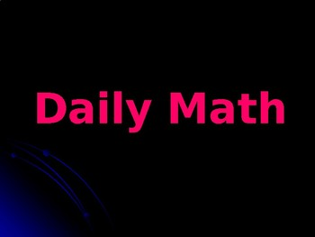 Daily Math Interactive PowerPoint