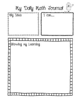 Daily Math Journal