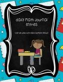 Daily Math Journal Entries: 2nd grade Harcourt Go!Math! companion