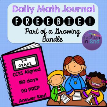 Daily Math Journal FREEBIE