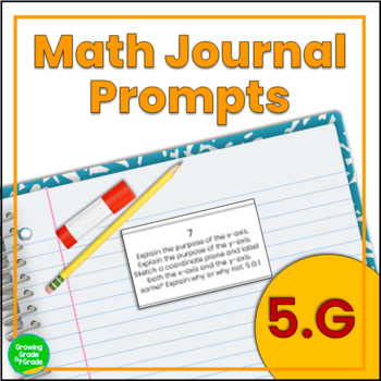 Daily Math Journal Prompts 5.G Snip-and-Glue