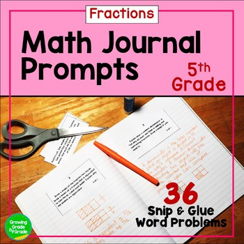 Math Journal Prompts Fractions