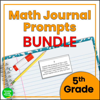 Daily Math Journal Prompts 5th Grade BUNDLE Snip-and-Glue