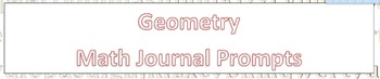 Daily Math Journal Prompts Bundle