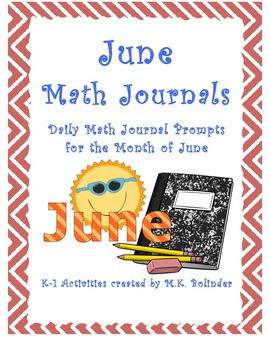 Daily Math Journal Prompts - June