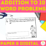 Addition to 10 Daily Word Problems First Grade