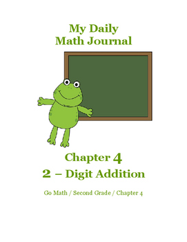 Daily Math Journal for Second Grade Go Math Chapter 4