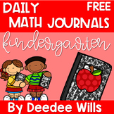 Kindergarten Math Journal Prompts | FREE GETTING STARTED
