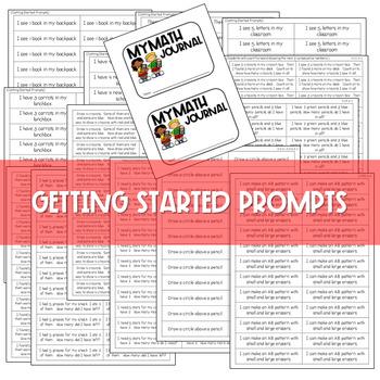 Kindergarten Math Journal Prompts | FREE GETTING STARTED