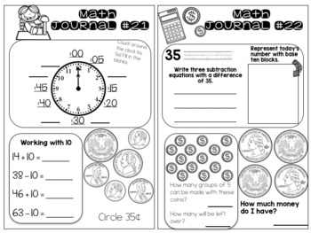 Daily Math Journals - First 9 Weeks