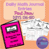 Daily Math Journals - Fourth 9 Weeks