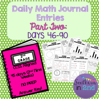 Daily Math Journals - Second 9 Weeks