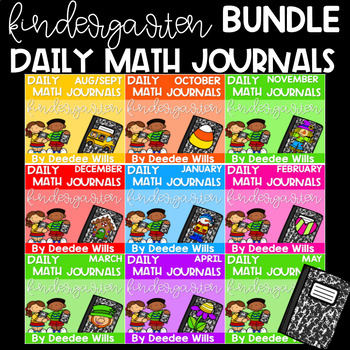 Kindergarten Math Journal Prompts | The BUNDLE