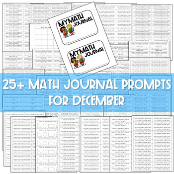 Kindergarten Math Journal Prompts | The BUNDLE
