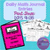 Daily Math Journals - Third 9 Weeks