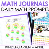 Kindergarten Math Journal Prompts | APRIL