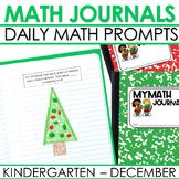 Kindergarten Math Journal Prompts | DECEMBER