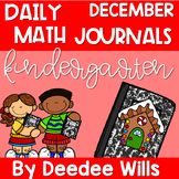 Kindergarten Math Journal Prompts | DECEMBER