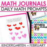 Kindergarten Math Journal Prompts | FEBRUARY