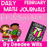 Kindergarten Math Journal Prompts | FEBRUARY