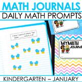 Kindergarten Math Journal Prompts | JANUARY