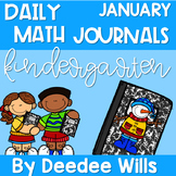 Kindergarten Math Journal Prompts | JANUARY