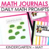 Kindergarten Math Journal Prompts |MAY