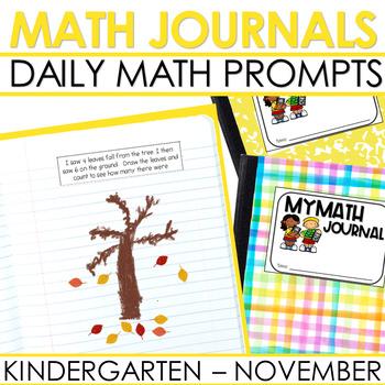Kindergarten Math Journal Prompts | NOVEMBER