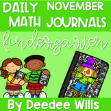 Kindergarten Math Journal Prompts | NOVEMBER