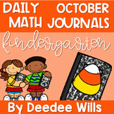 Kindergarten Math Journal Prompts | OCTOBER