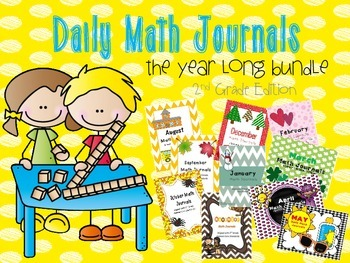 Daily Math Journals for the Year! {2nd grade Bundle Edition}