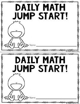 2nd Grade Daily Math Warm Ups: April