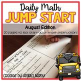 2nd Grade Daily Math Warm Ups: August
