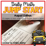 2nd Grade Daily Math Warm Ups: August