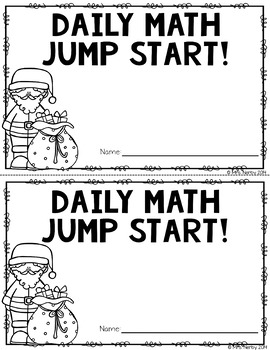 2nd Grade Daily Math Warm Ups: December
