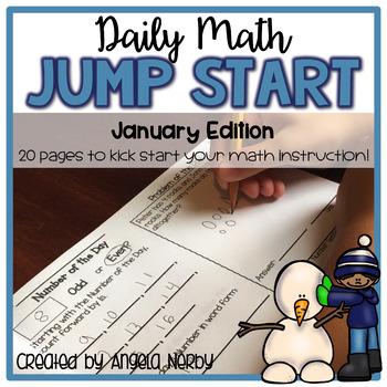 Daily Math Jump Start: January {2nd Grade}