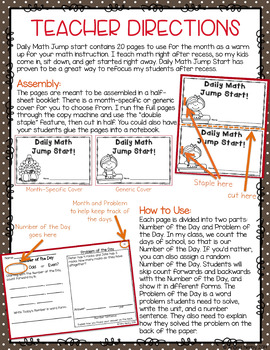 2nd Grade Daily Math Warm Ups: November